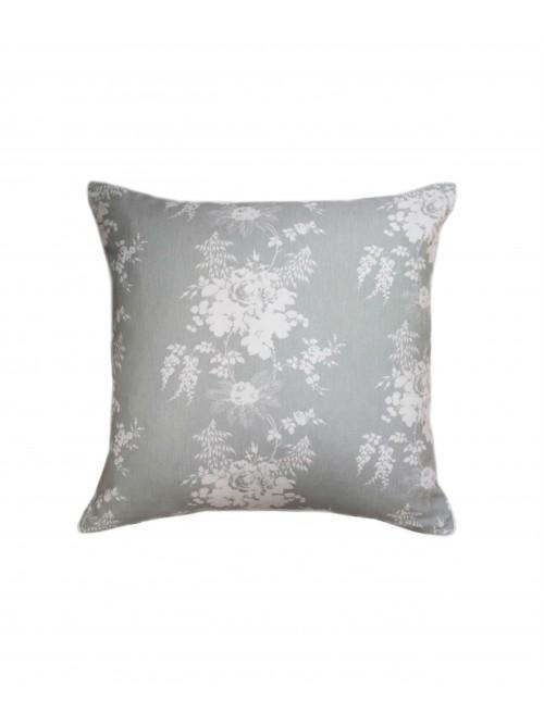 Cabbages & Roses Charlotte Cushion Grey/Green
