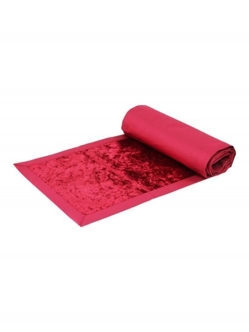 Crushed Velvet Runner Red
