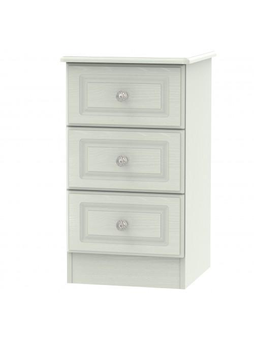 Sussex 3 Drawer Bedside Cabinet Kaschmir Ash