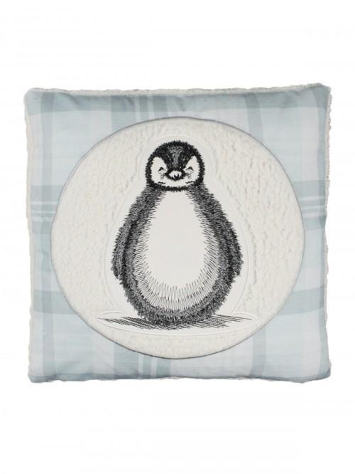 Cute Penguin Cushion Grey