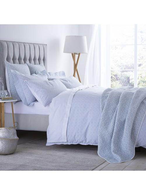 Bianca Delicate Cotton Print Bedding Collection Duck Egg