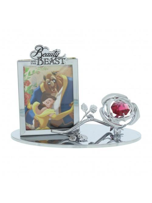 Disney Chrome Plated Photo Frame Beauty and the Beast