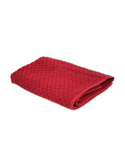 Cotton Diamond Tea Towel Red
