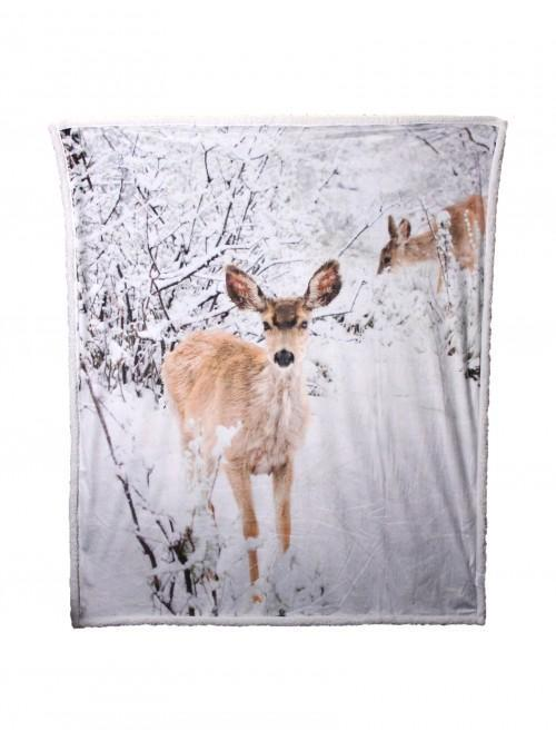 Digital Deer Sherpa Grey