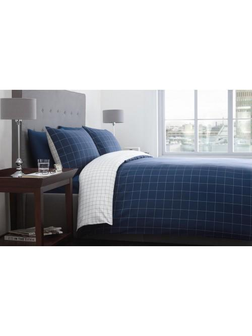 Racing Green Ditton Check Duvet Set Navy