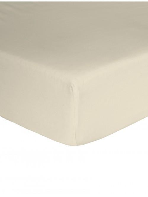 Egyptian 100% Cotton Extra Deep Fitted Sheet Cream
