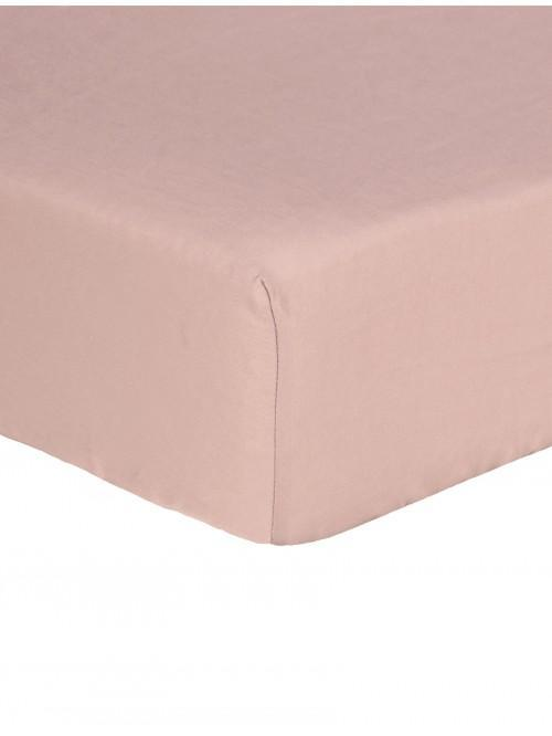 Egyptian 100% Cotton 200 Thread Count Fitted Sheet Blush