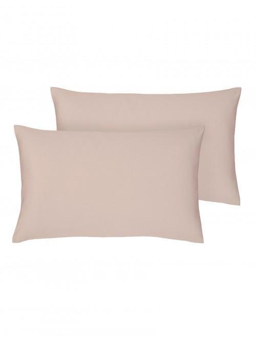 Egyptian 100% Cotton Housewife Pillowcase Pair Blush