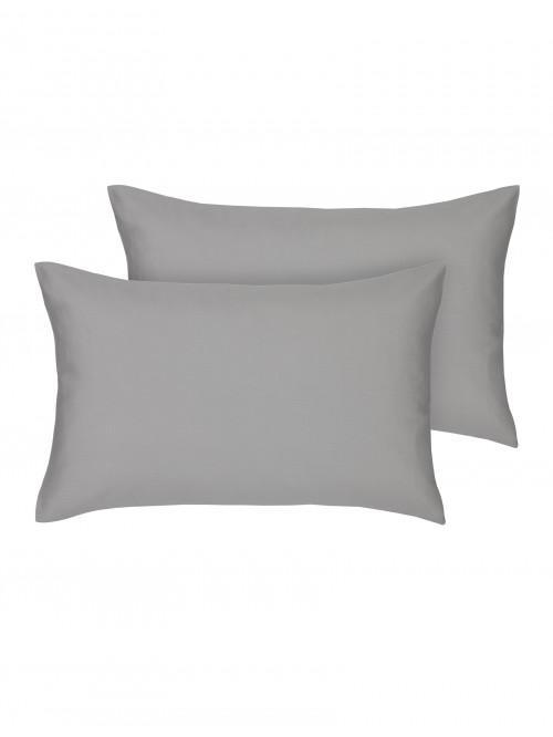 Egyptian 100% Cotton Housewife Pillowcase Pair Grey