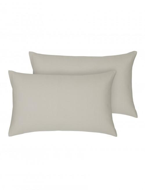 Egyptian 100% Cotton Housewife Pillowcase Pair Stone