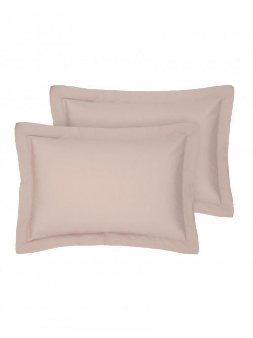 Egyptian 100% Cotton Oxford Pillowcase Pair Blush