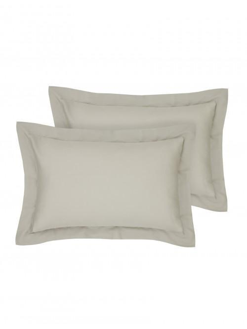 Egyptian 100% Cotton Oxford Pillowcase Pair Stone