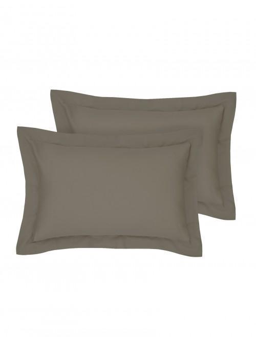 Egyptian 100% Cotton Oxford Pillowcase Pair Truffle