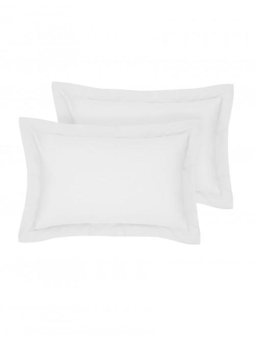 Egyptian 100% Cotton 200 Thread Count Oxford Pillowcase Pair White