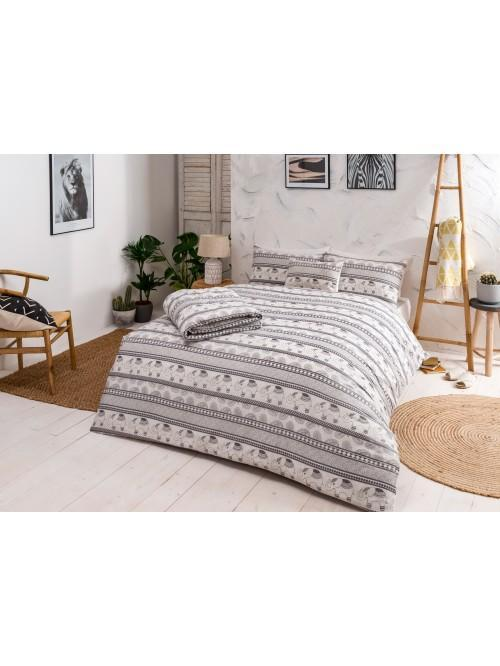 Elephant Stripe Printed Bedding Collection Monochrome