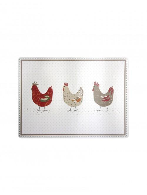 Farmhouse Chicken Cork Back Placemat 4 Pack