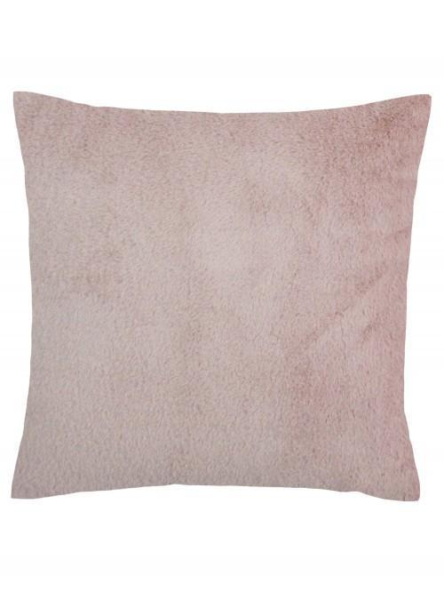 Large Faux Fur Cushion Blush