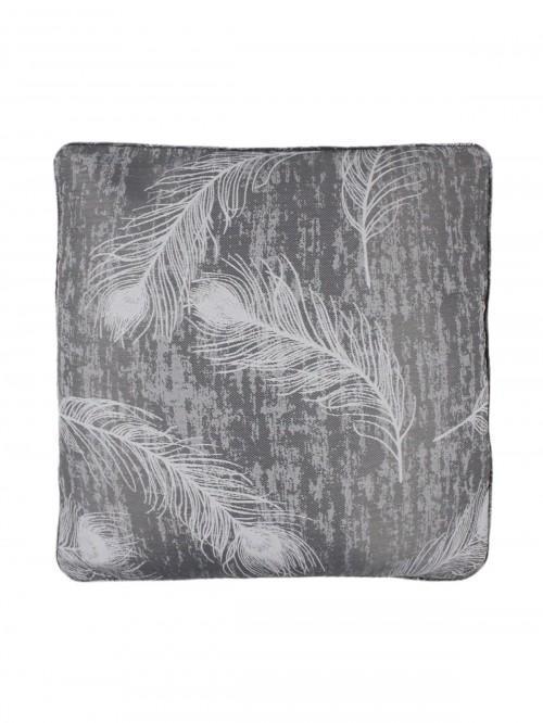 Feather Cushion Grey