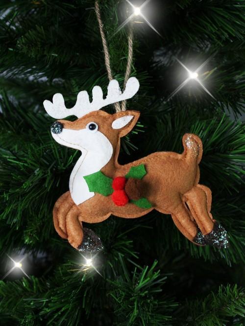 Felt Leaping Reindeer