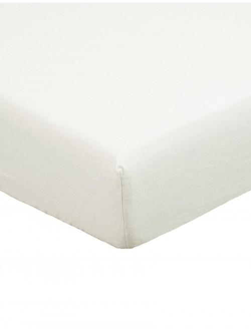 Flannelette Deep Fitted Sheet Cream