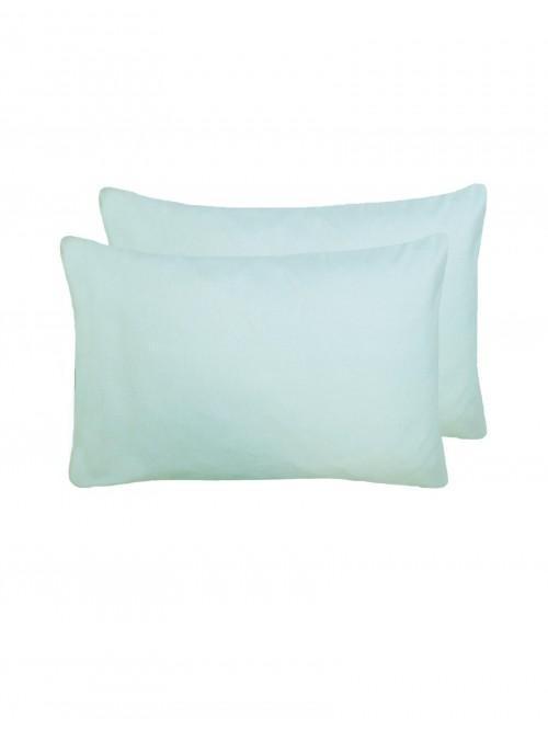 Flannelette Housewife Pillowcase Pair Duck Egg