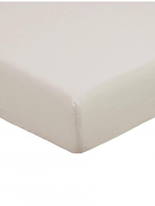 Flannelette Deep Fitted Sheet Latte