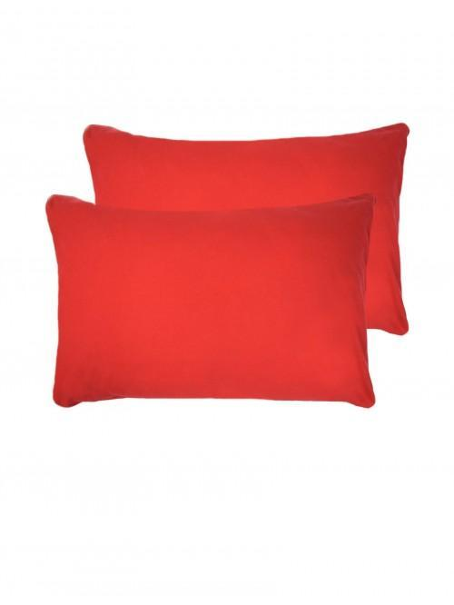 Flannelette Housewife Pillowcase Pair Red