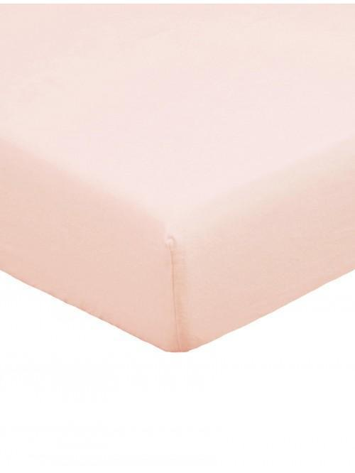 Flannelette Deep Fitted Sheet Pink