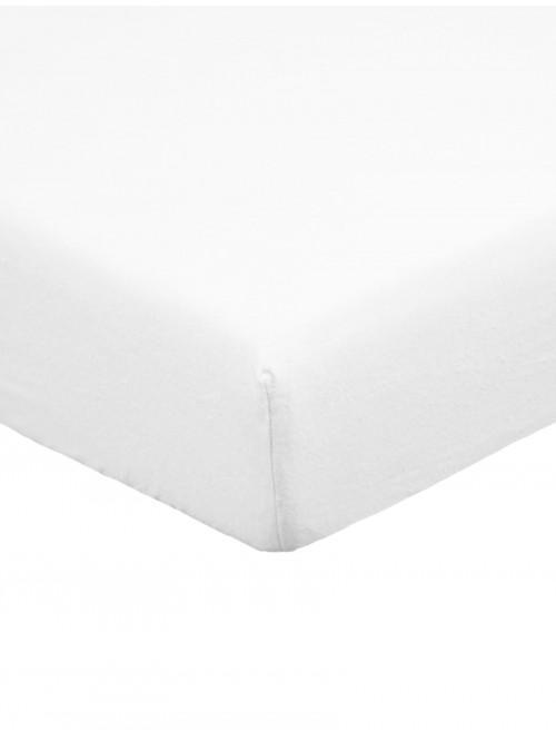 Flannelette Deep Fitted Sheet White