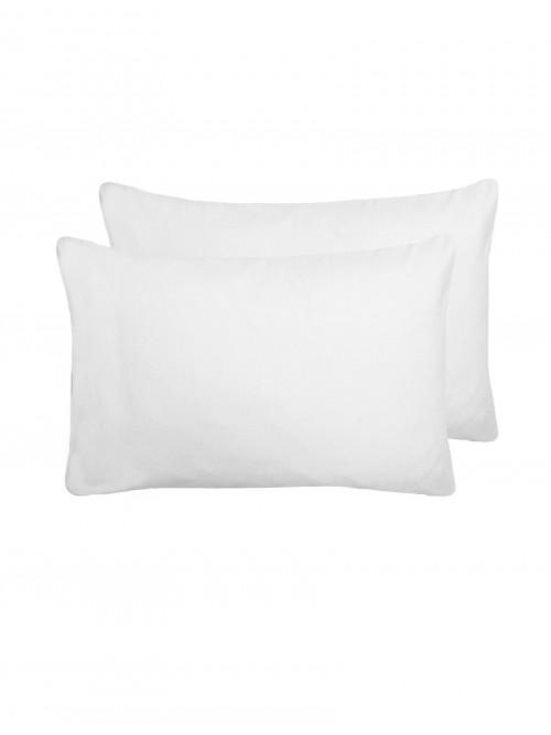 Flannelette Housewife Pillowcase Pair White
