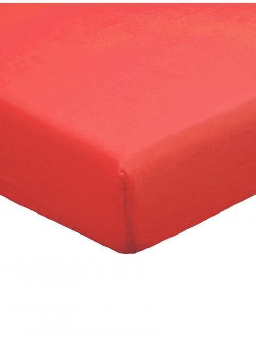 Flannelette Deep Fitted Sheet Red