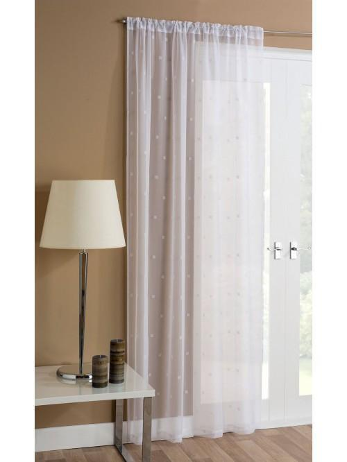 Square Flock Voile Panel White