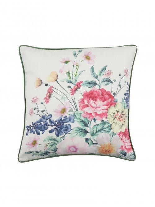 Summer Floral Printed Cushion Green