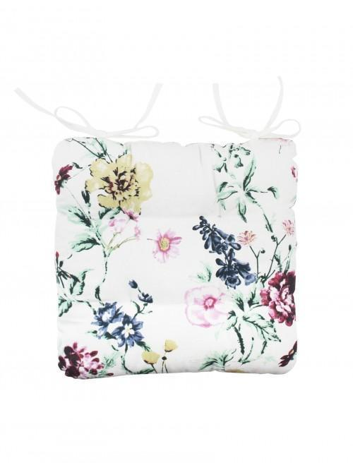 Summer Floral Seatpad Green
