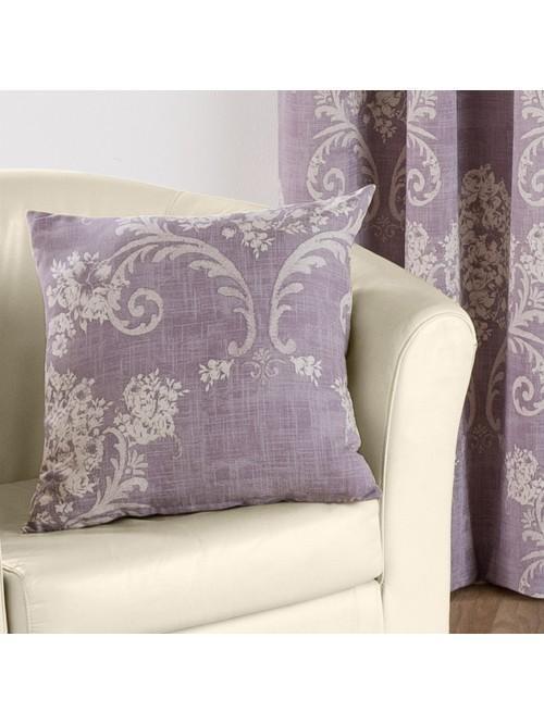 Floral Toile Curtain Cushion Heather