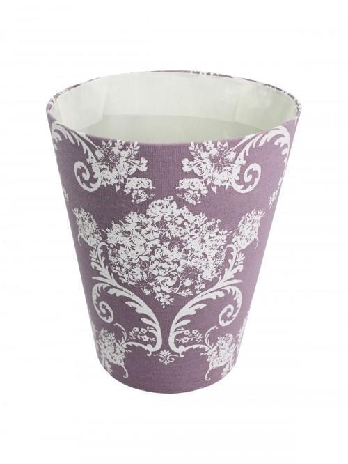 Floral Toile Waste Basket Heather