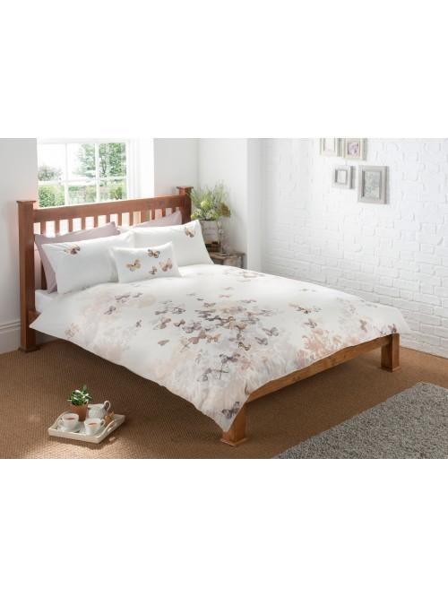 Flutter Embroidery Bedding Collection Cream
