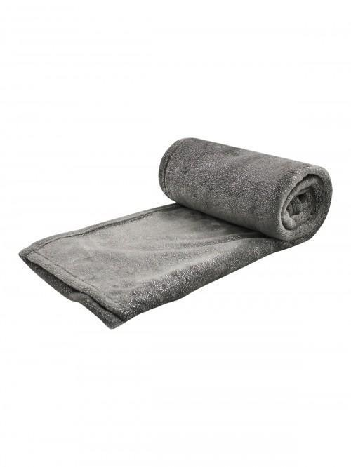 Glitter Soft Touch Throw Grey