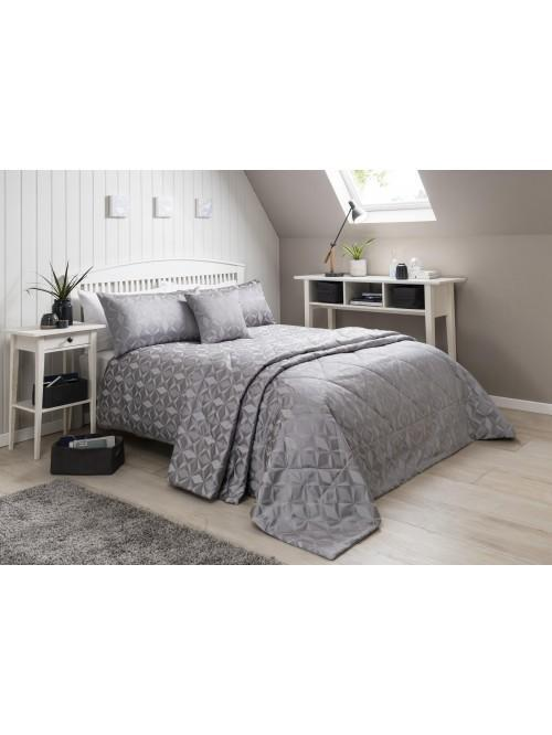 Geo Jacquard Bedding Collection Silver