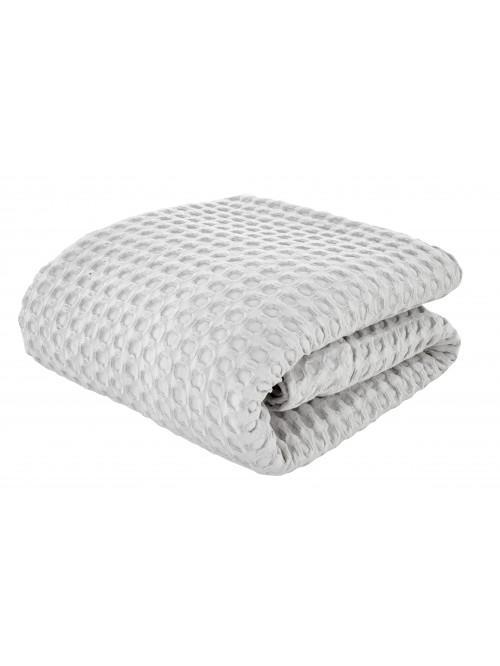 Bianca Giant Waffle Bedspread Grey