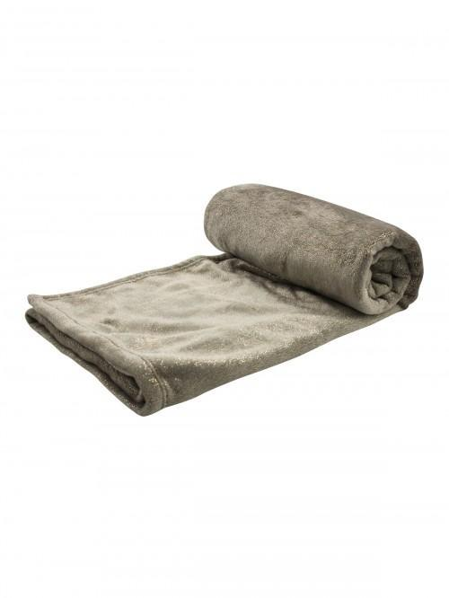 Glitter Soft Touch Throw Natural