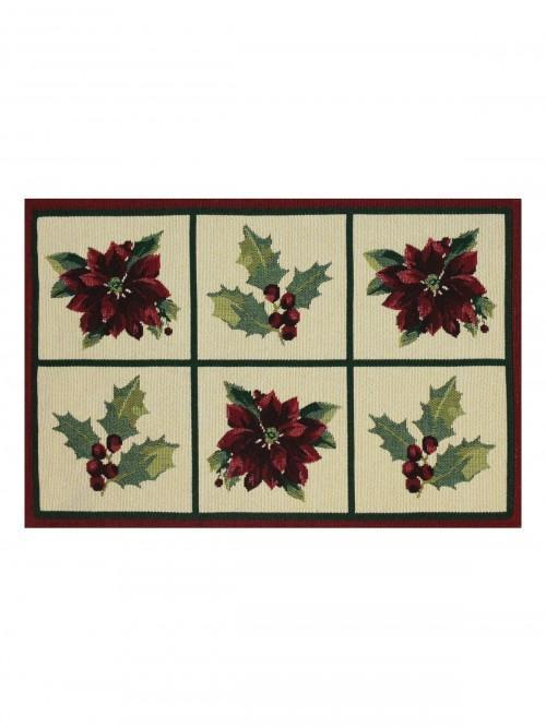 Gold Poinsettia Placemat