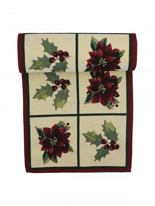 Gold Poinsettia Runner