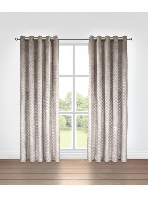 Grace Eyelet Curtains Taupe