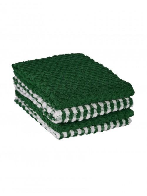 Ponden Home 4 Pack Tea Towel Set Green
