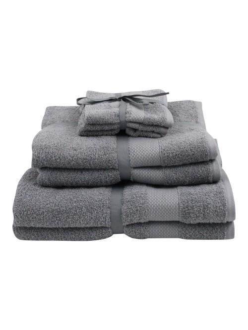 Two Pack 100% Cotton Egyptian Towels Silver