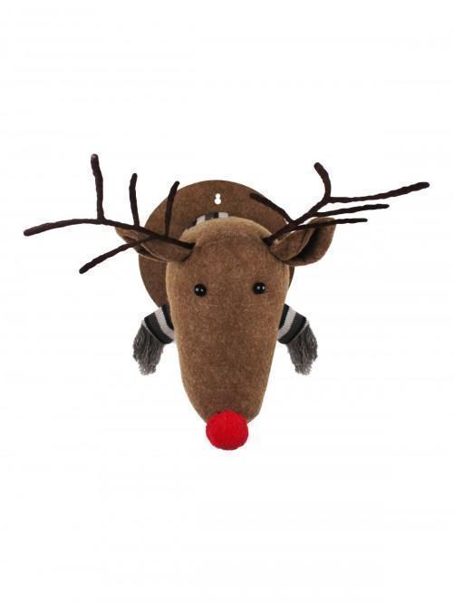 Plush Reindeer Head