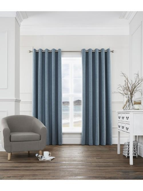 Harlow Blackout Eyelet Curtains Teal