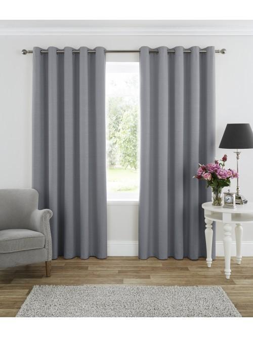 Harmony Blackout Eyelet Curtains Grey