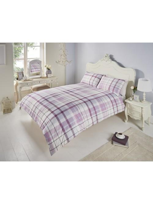 Hartford Check Duvet Set Heather